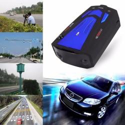 V7 16 LED wyświetlacz samochodowy anty radarowy detektor laserowy głosowe ostrzeganie o prędkości