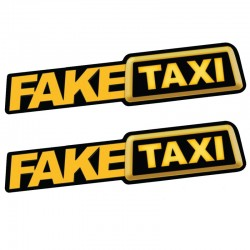 Fake Taxi reflective car sticker decal