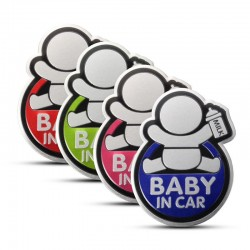 BABY IN CAR reflective 3D car sticker waterproof