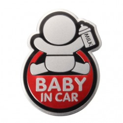 BABY IN CAR sticker pour voiture 3D