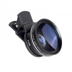 Kit lentes para càmara wide angle iPhone 6 Plus 5S 4S Samsung S6 S5 Note 4 HD
