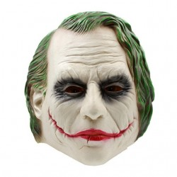 Joker halloween full head latex mask