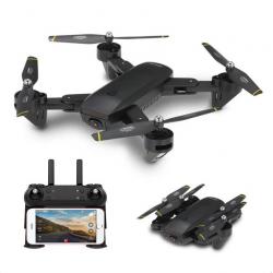 Drone quadcopter doblable con càmara flujo òptico DM DM107 WIFI FPV Dual 2MP RC