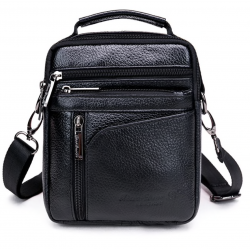New High Quality Men Business Handbag Genuine Leather Cowhide Retro Crossbody Single Shoulder Bag Ca