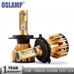 Oslamp H4 H7 H11 9005 9006 SMD LED arwki Reflektorw Chipy LM 70 W 6500 K Led Auto Samochd Reflek