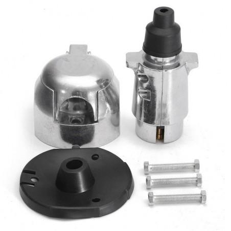 12N 7 pin metal towing plug & socket connector kit for towbar caravan trailer