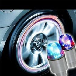 Samochodowy rowerowy LED neon niebieski stroboskop zakrętki do opon 2 szt