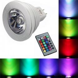 E14 - E27 RGB LED 3W Farbwechsellampe mit Fernbedienung