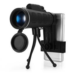 Mini telescopio mono oculare con bussola 40 x 60 BAK4 HD