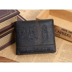 Skórzana portfel męski - zamek błyskawiczny i miejsce na karty kredytowe