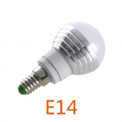 E14 E27 RGB LLEV el Bulbo 3 W Lmpara LED Spotlight IR Remote Control 16 Color Cambiable AC85-265