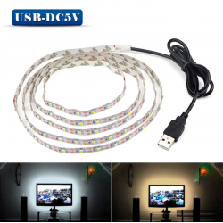 5V USB SMD 3528 LED strip light tape TV background lighting