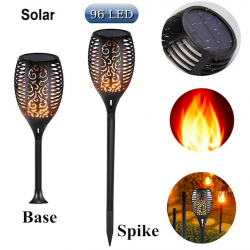 96 Led outdoor solar torch light waterproof