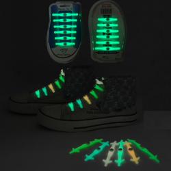 Lacci da scarpe luminosi LED in silicone 12 pcs set