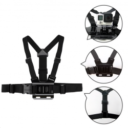 GoPro Hero & Xiaomi Yi GP27 adjustable chest strap belt tripod harness mount