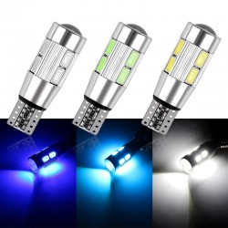 LED T10 W5W 10 SMD car light bulb 2 pcs