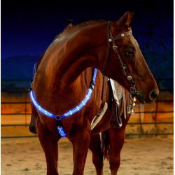 LED horse chest strap breastplate collar