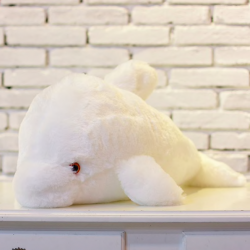 Dauphin de peluche jouet LED 45 cm