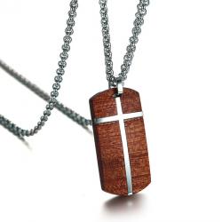 Collar vintage palisandro acero inox