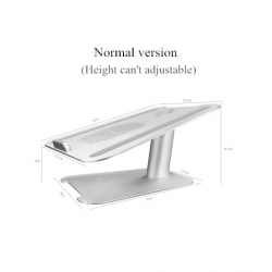 Adjustable height aluminum alloy laptop stand holder