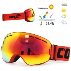 UV400 podwójna warstwa przeciwmgielne narciarskie snowboardowe gogle