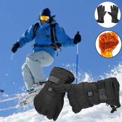 Zimowe wodoodporne podgrzewane rękawiczki