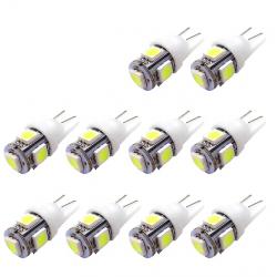 T10 5SMD 5050 W5W Xenon LED żarówka 10 szt