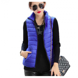 Women's slim short jacket vest