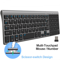Mini teclado con touchpad wireless - Air Mouse Android Box - Windows PC