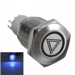 Samochodowy 16mm LED podświetlany samoblokujący wodoodporny przełącznik przyciskowy ze stali nierdzewnej