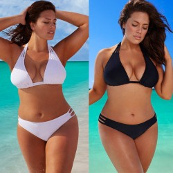 Bikini plus size a vita bassa