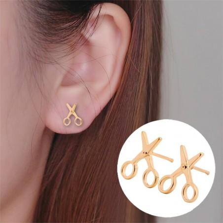Small scissors stud earrings