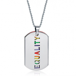 Collana pendente EQUALITY doppio strato unisex
