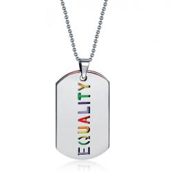 EQUALITY Doppelschicht Anhänger Halskette Unisex