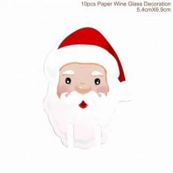 Świąteczna papierowa dekoracja lampki wina 10 szt