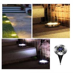 8 LED-Bodeneinbauleuchten mit wasserdichtem Sensor