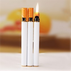Cigarette shape refillable butane gas lighter