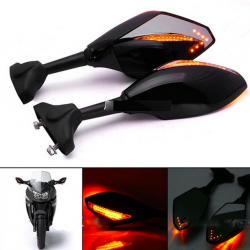 LED motocyklowe kierunkowskazy lusterka wsteczne dla Yamaha Yzf Fzr 600 1000 R1 R6 FZ1 FZ6