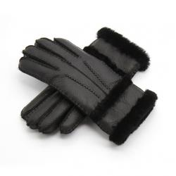 Prawdziwa skóra & kaszmir & futerko ciepłe rękawiczki