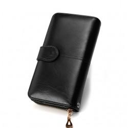 Skórzany długi portfel portmonetka