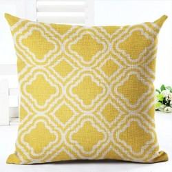 Geometric print pillowcase cushion cover case cotton 45 * 45cm