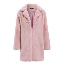 Elegancka futerkowa kurtka płaszcz