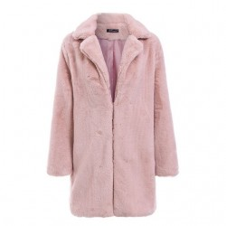 Faux fur warm coat jacket