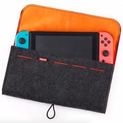 Nintendo Switch & 5 miejsc na karty do gier wełniany futerał ochronny o dużej pojemności