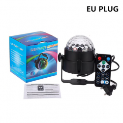 7 colors LED 3W disco ball sound activated laser projector RGB stage lamp light