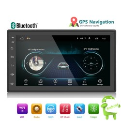 Android 9 - Autoradio DIN-2 - Touch screen 7'' - GPS - Bluetooth - FM - WIFI -MP3 - Mirrorlink