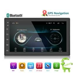 Android 9 - Radio de coche DIN-2 - Pantalla táctil de 7 '' - GPS - Bluetooth - FM - WIFI -MP3 - Mirrorlink