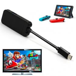 Nintendo Switch USB typ C adapter stacja ładująca USB 3.0 HD TV HDMI konwerter kabel transferu