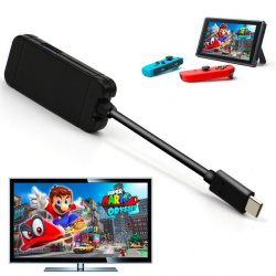 Nintendo Switch USB typ C adapter stacja ładująca USB 3.0 HD TV HDMI konwerter kabel transferu