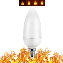 3W 5W 7W 9W E27 E26 E14 E12 85 - 265V LED efekt ognia płomienia żarówka